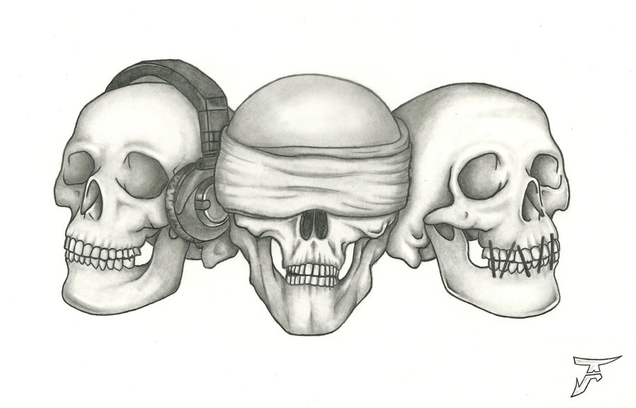 HEAR SEE SPEAK NO EVIL OMINOUS