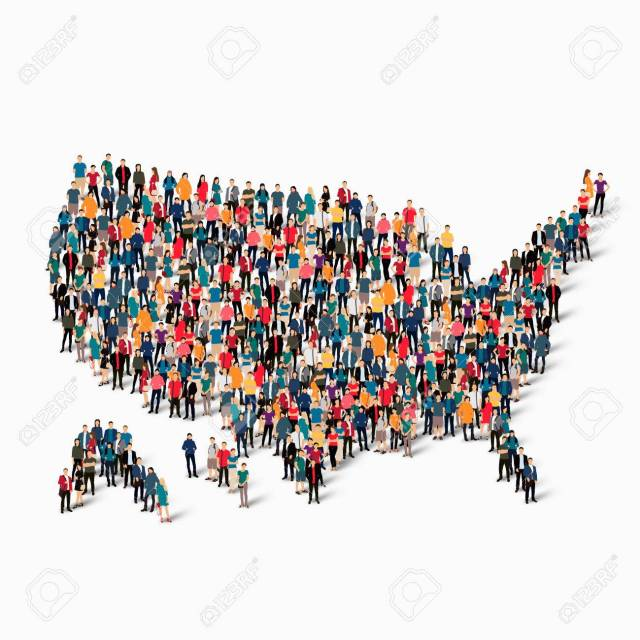 people map country America USA